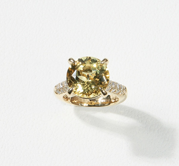 YELLOW BERYLL COCKTAIL RING